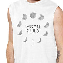 Load image into Gallery viewer, Moon Child Mens White Muscle Top