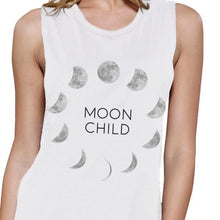 Load image into Gallery viewer, Moon Child Womens White Muscle Top