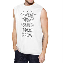 Load image into Gallery viewer, Sweat Smile Mens Funny Workout Muscle Tank Top Fitness Muscle Shirt