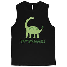 Load image into Gallery viewer, Shamrock Saurus Mens Muscle Top Funny New Dad St Patricks Day Shirt