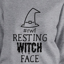 Load image into Gallery viewer, Rwf Resting Witch Face Grey SweatShirt