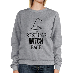 Rwf Resting Witch Face Grey SweatShirt