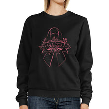 Load image into Gallery viewer, Warrior Breast Cancer Awareness Black SweatShirt