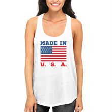 Load image into Gallery viewer, Made In USA Tank Top for July 4th Celebration American Flag Tanks