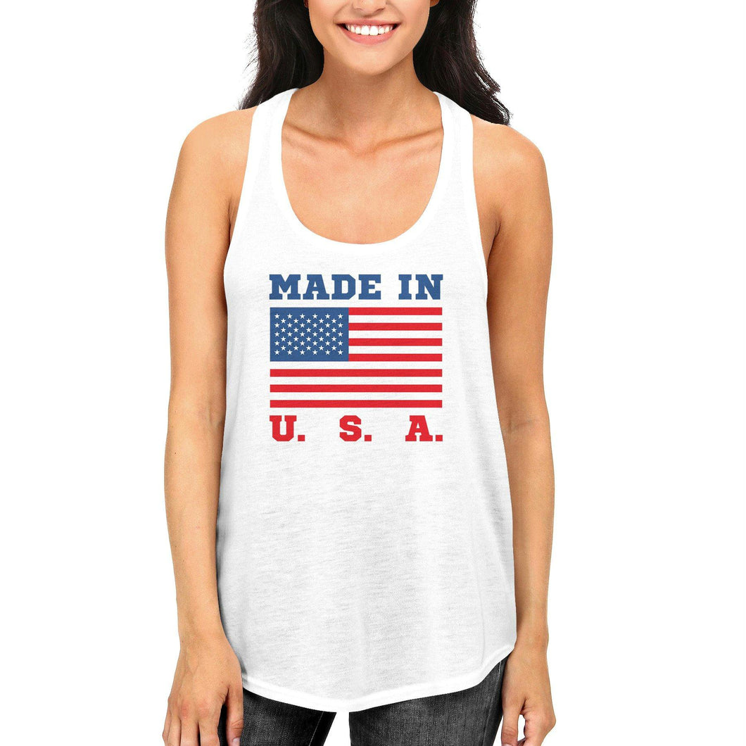 Made In USA Tank Top for July 4th Celebration American Flag Tanks
