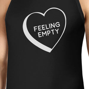 Feeling Empty Heart Mens Black Sleeveless T Shirts Graphic Tank Top
