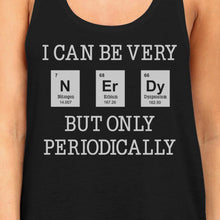Load image into Gallery viewer, Nerdy Periodically Womens Black Tank Top