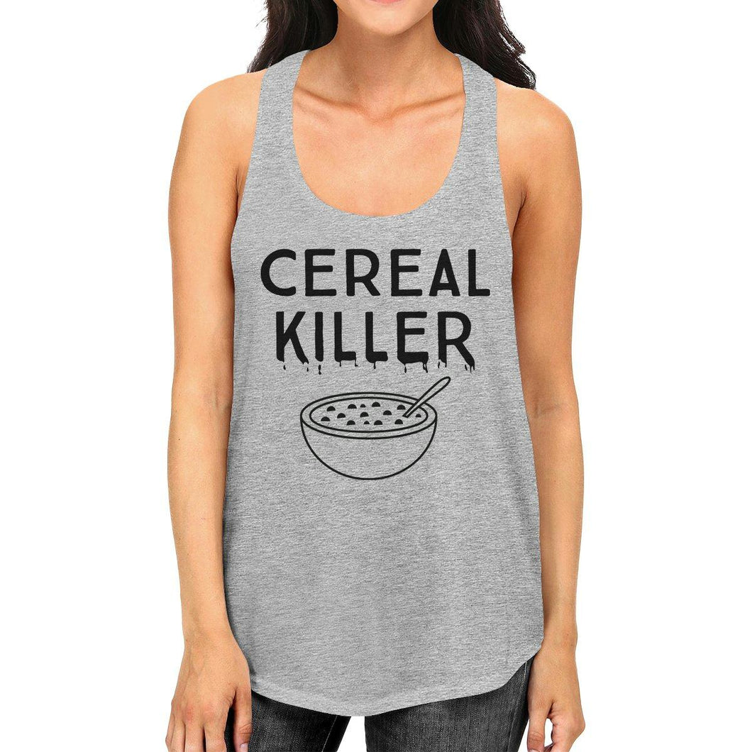 Cereal Killer Womens Grey Tank Top