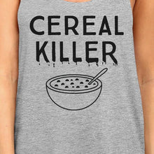 Load image into Gallery viewer, Cereal Killer Womens Grey Tank Top