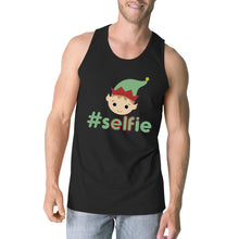 Load image into Gallery viewer, Hashtag Selfie Elf Mens Black Tank Top