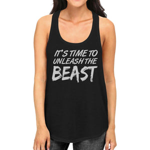 Unleash Beast Womens Cute Racerback Tank Top Funny Gym Gift Tanks