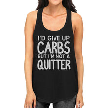 Load image into Gallery viewer, Carbs Quitter Womens Cute Racerback Tank Top Funny Gift Tank Tops
