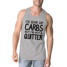 Load image into Gallery viewer, Carbs Quitter Mens Funny Graphic Tanks Gym Workout Tank Top Gifts