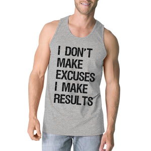 Excuses Results Mens Cute Racerback Tank Top Funny Gym Gift Tanks