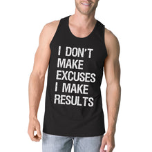 Load image into Gallery viewer, Excuses Results Mens Cute Racerback Tank Top Funny Gym Gift Tanks