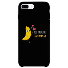 Load image into Gallery viewer, Bananas and Apple Matching Black Couple Phone Cases