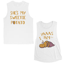Load image into Gallery viewer, Sweet Potato Yam Matching Muscle Tank Tops Funny Anniversary Gift