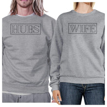 Load image into Gallery viewer, Hubs And Wife Matching Couple Grey Sweatshirts