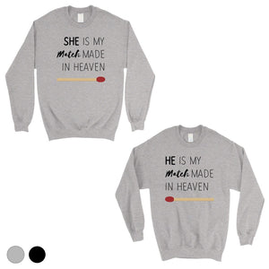 Match Made In Heaven Matching Sweatshirt Pullover Cute Wedding Gift