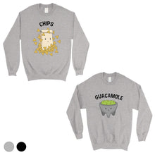 Load image into Gallery viewer, Chips & Guacamole Matching Sweatshirt Pullover Cute Couples Gift