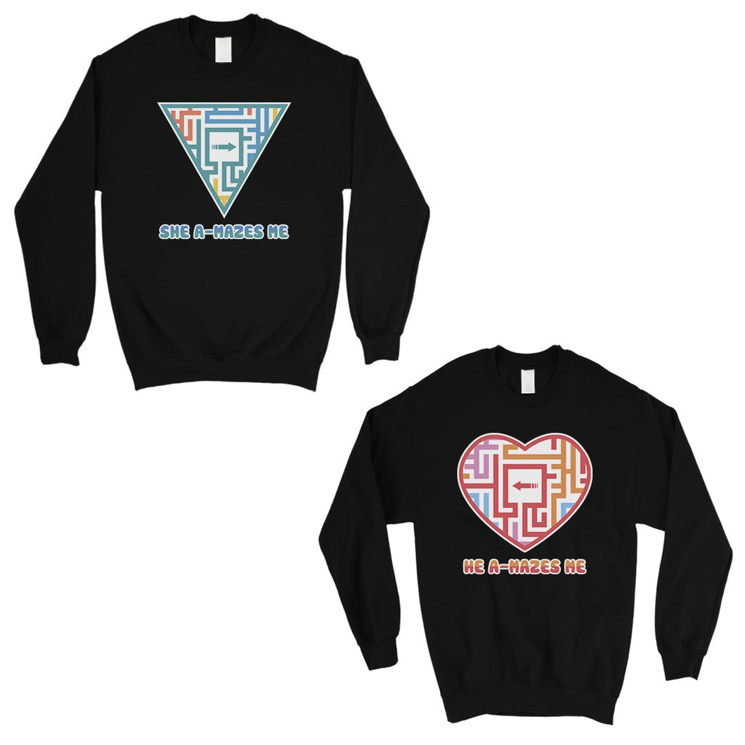 A-Mazes Me Matching Sweatshirt Funny Valentine's Day Gift Ideas