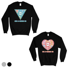 Load image into Gallery viewer, A-Mazes Me Matching Sweatshirt Funny Valentine's Day Gift Ideas