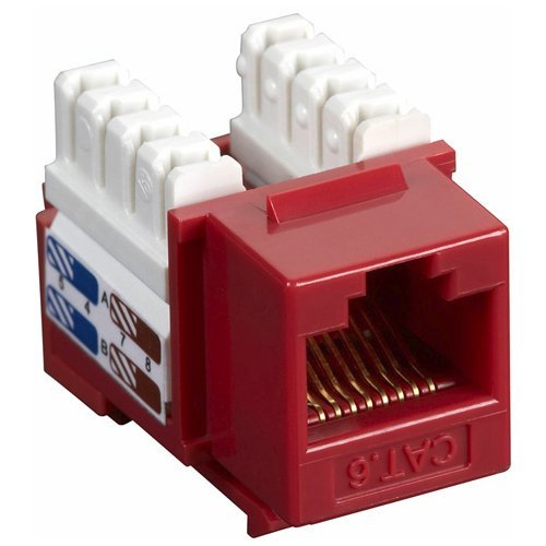 Black Box Network Services Black Box Connect Cat6 Rj-45 Keystone Jack Unshielded Red