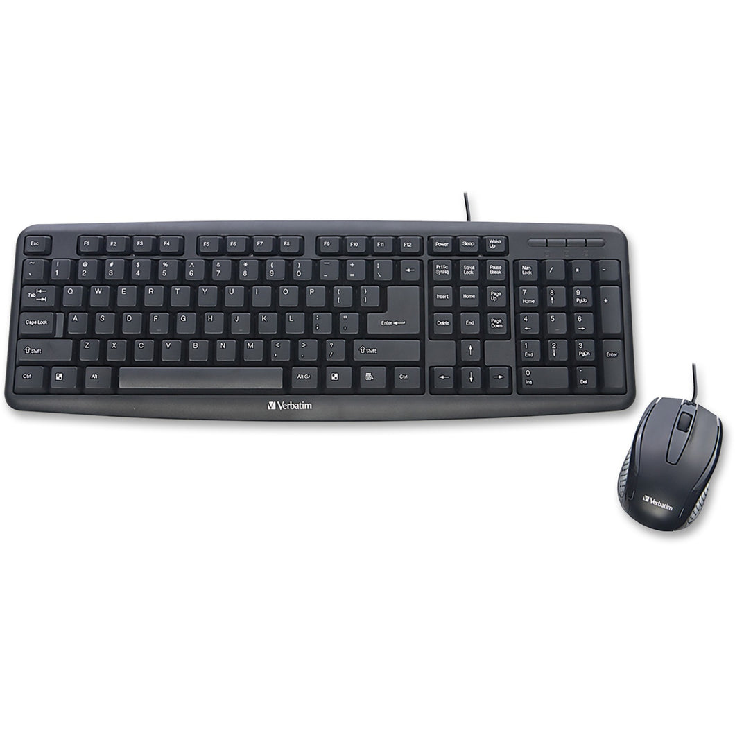 Verbatim Americas Llc Slimline Corded Usb Keyboard And Mouse