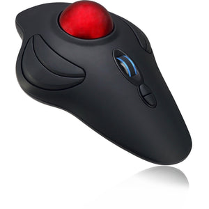 Adesso 2.4ghz Wireless Programmable Ambidextrous Ergonomic Trackball Mouse, With