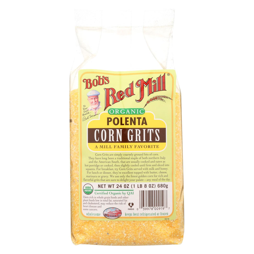 Bob's Red Mill - Organic Corn Grits - Polenta - 24 Oz - Case Of 4