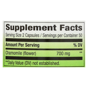 Nature's Way - Chamomile Flowers - 100 Capsules
