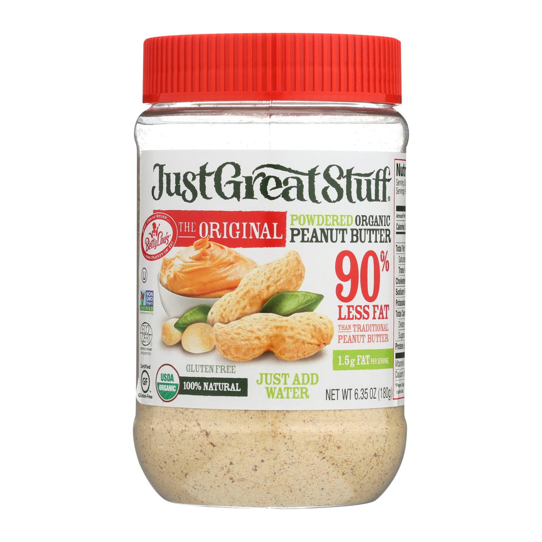Just Great Stuff Powdered Peanut Butter - 6.43 Oz - Case Of 12