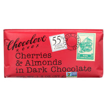 Load image into Gallery viewer, Chocolove Xoxox - Premium Chocolate Bar - Dark Chocolate - Cherries And Almonds - Mini - 1.3 Oz Bars - Case Of 12