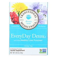 Load image into Gallery viewer, Traditional Medicinals Everyday Detox Herbal Tea - Case Of 6 - 16 Bags