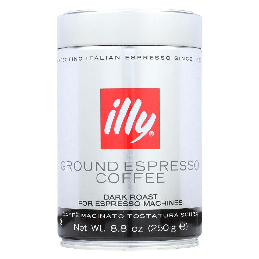 Illy Caffe Coffee Coffee - Espresso - Ground - Dark Roast - 8.8 Oz - Case Of 6