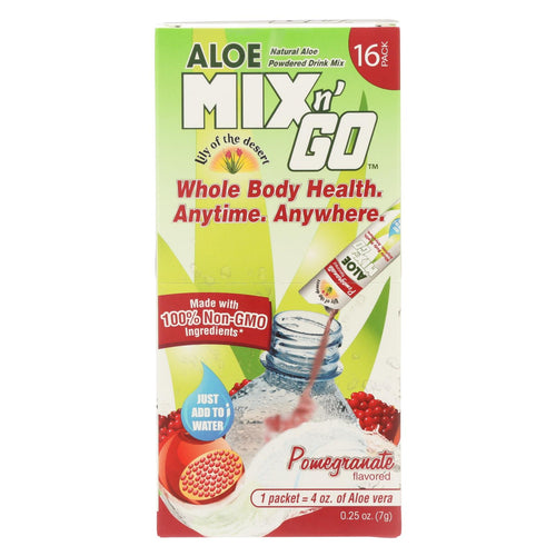 Lily Of The Desert - Aloe Mix N' Go - Pomegranate - 16 Packets
