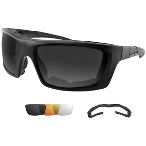 Bobster Trident Convertible Polarized Smked Clr and Ambr