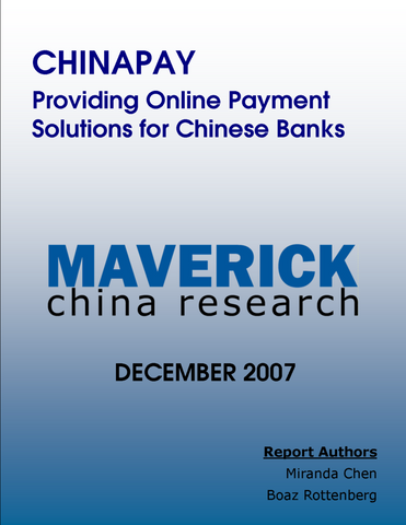 ChinaPay - Providing Online Payment Solutions for Chinese Banks