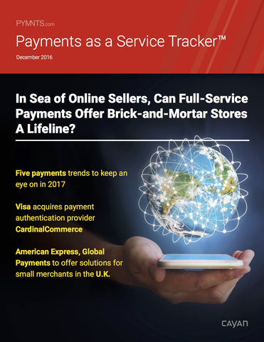 Payments as a Service Tracker - December 2016