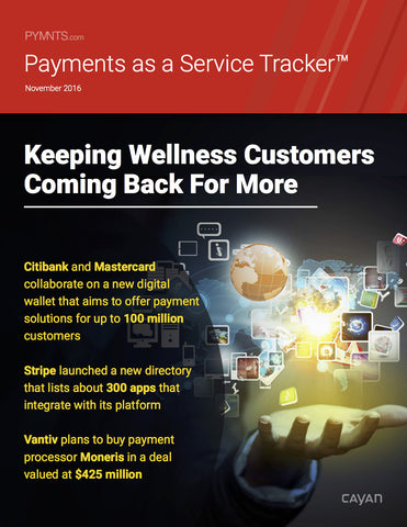 Payments as a Service Tracker - November 2016