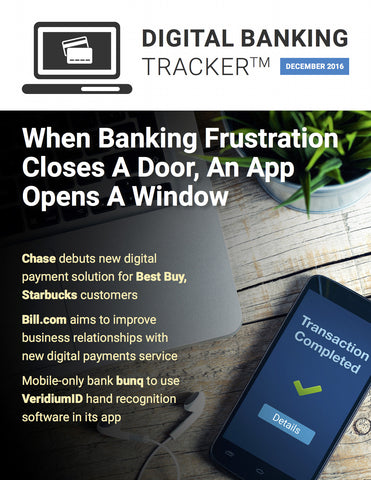 DIGITAL BANKING TRACKER - DECEMBER 2016