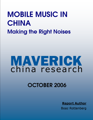 Mobile Music in China: Making the Right Noises