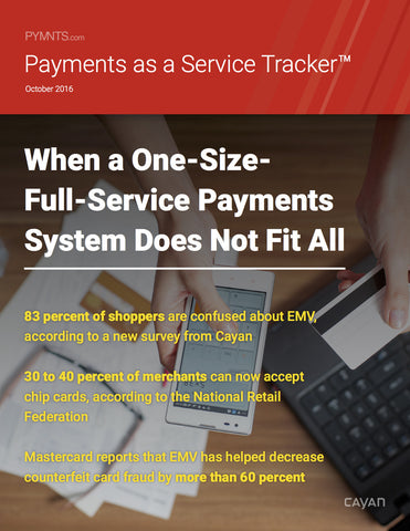 Payments as a Service Tracker - October 2016