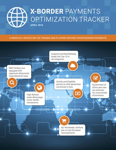 X-Border Payments Optimization Tracker - April 2016 Edition*