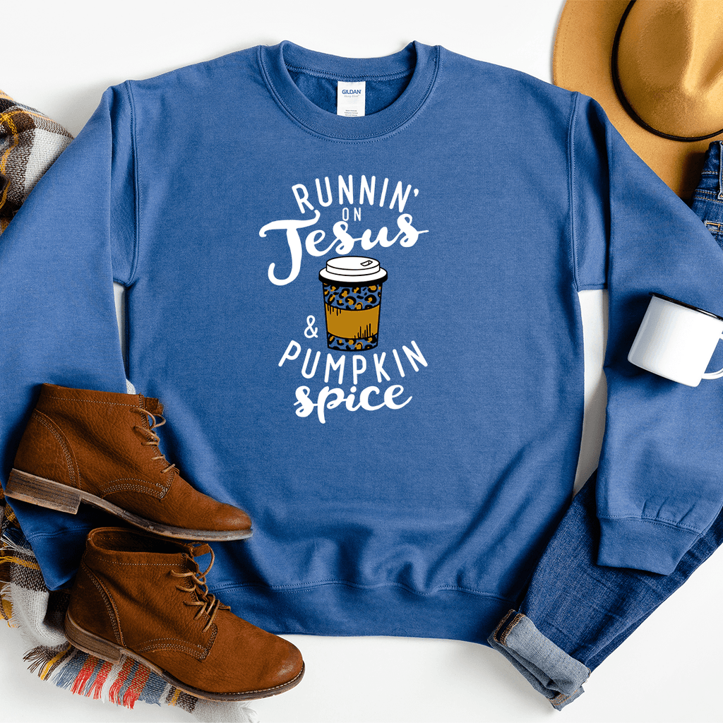 Runnin' on Jesus & Pumpkin Spice - Sweatshirt