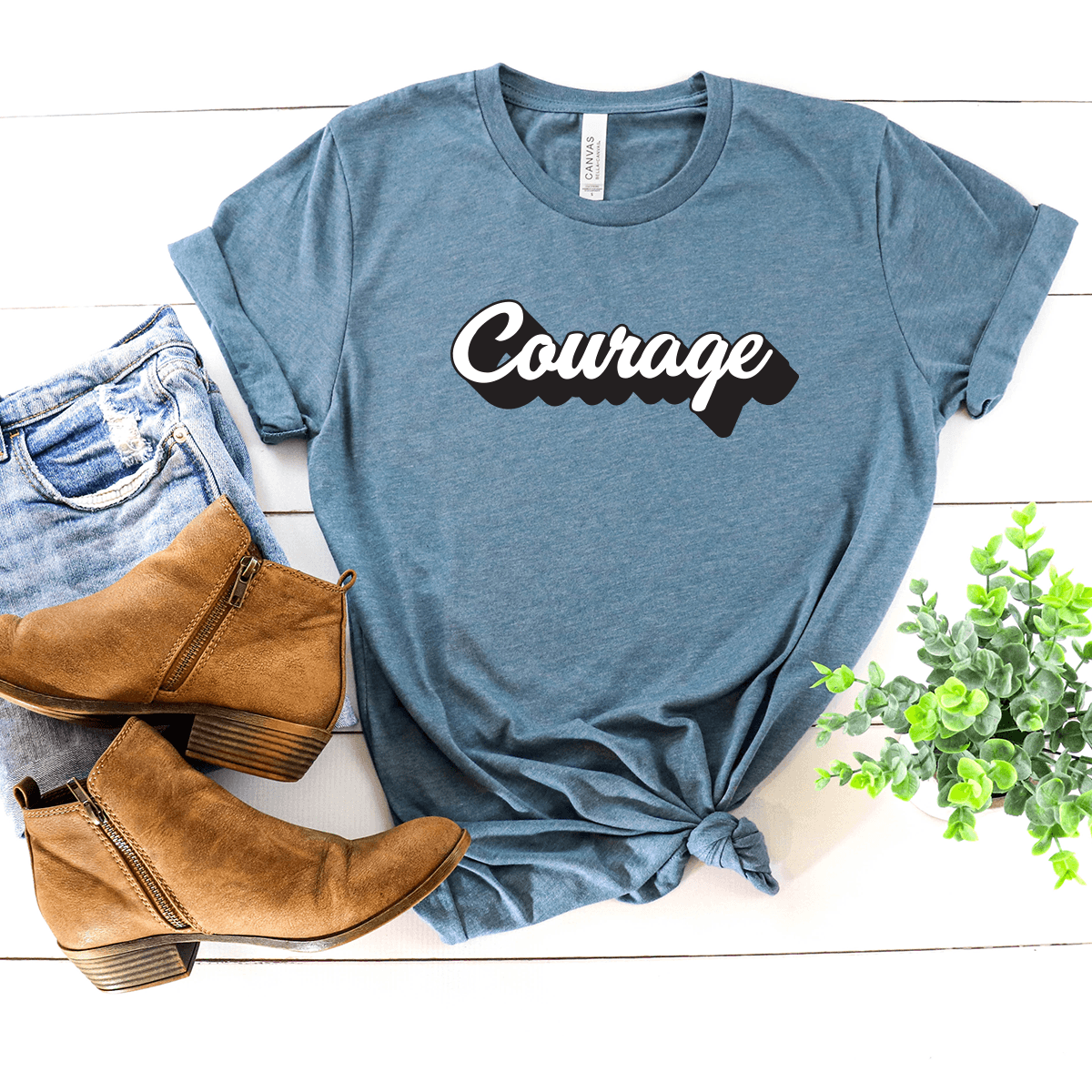 Courage - Bella+Canvas Tee
