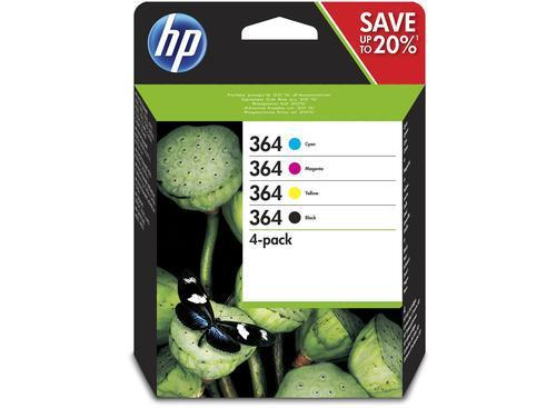 HP Tinta HP364 Pack Black/Cyan/Magenta/Yellow (N9J73AE)