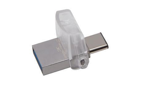 Kingston Technology DataTraveler microDuo 3C 32GB 32GB USB 3.1 (3.1 Gen 2) Type-A/Type-C Plata unida