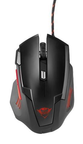 TRUST RATON GAMING GXT 111. OPTICO. 2500 DPI. USB. NEGRO CON LED
