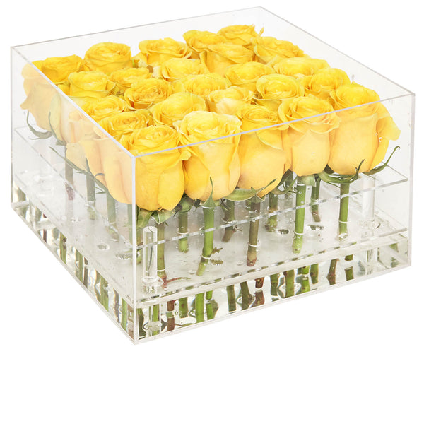 Yellow Boxed Roses